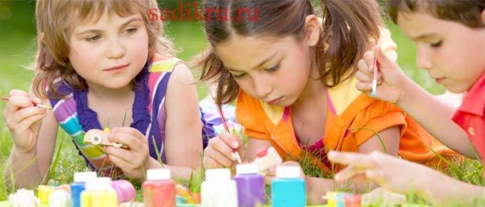 Занятия в детском саду летом — чем занять детей
