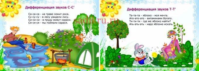 Детские стихи для постановки артикуляции