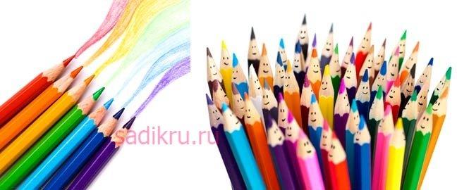 Карандаши для рисования с малышами