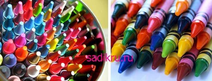 Рисование цветными мелками с малышом