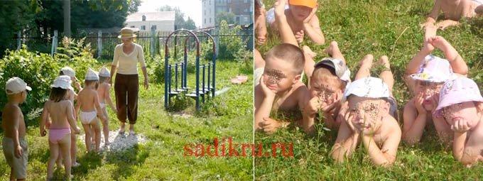 Летнее закаливание в детском саду