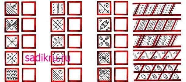 Мезенские орнаменты для рисования с малышами