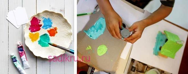 Рисование красками с малышами