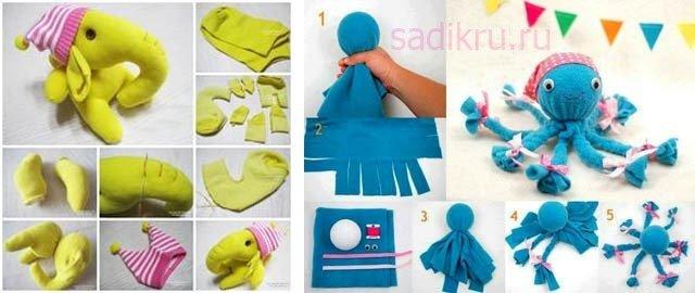 Самодельные игрушки для деток до года