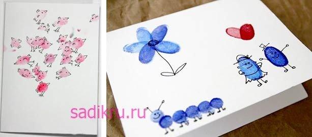 Техника рисования отпечатками с малышами