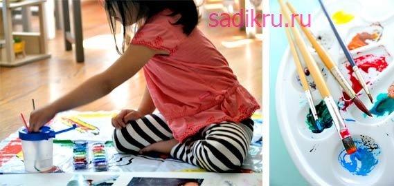 Чем рисовать ребенку в детском саду