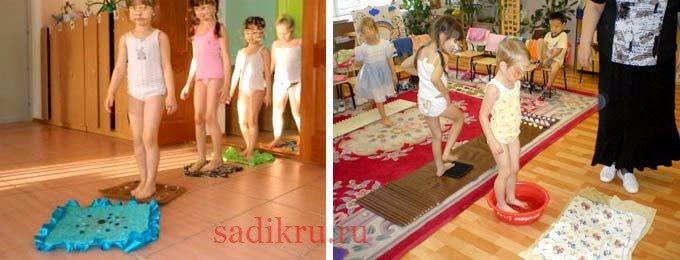 Какие бывают методы закаливания детей в детском саду