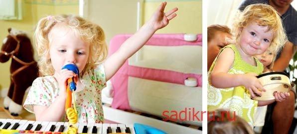 Игры под музыку для деток до 3-х лет