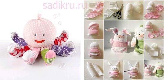 Самодельные игрушки для детей до трех лет