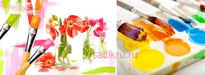 Краски - как научить ребенка держать кисточку