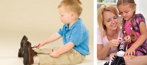 Как научить ребенка обуваться
