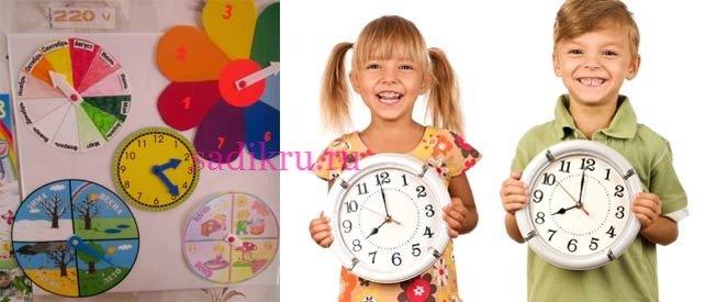 Как научить малыша определять время по стрелкам часов