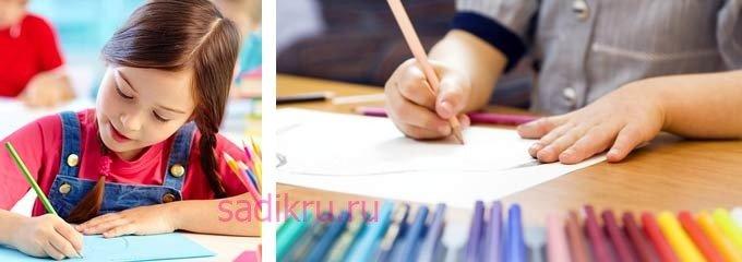 Повторяющиеся предметы в детских рисунках